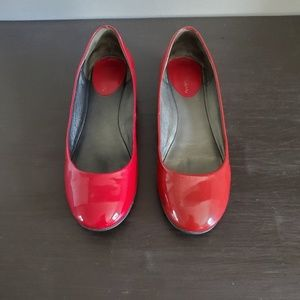 2 for $20 Cole Haan red patent leather flats 6